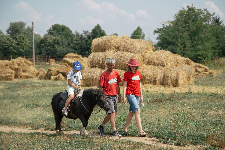 Călărie ponei la Ferma Animalelor